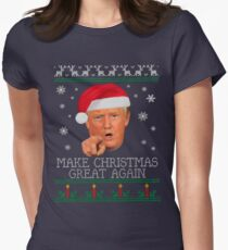 Make Christmas GREAT AGAIN Women's Fitted T-Shirt