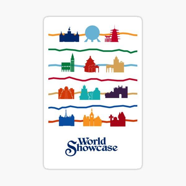 World Showcase Pavilions Sticker