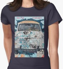Berlin Trabant Car On The Berlin Wall Women's Fitted T-Shirt