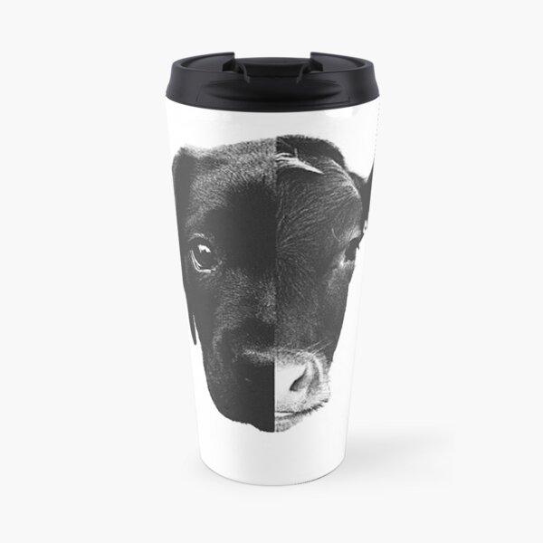 Animal Equality - (Black & White) Travel Mug