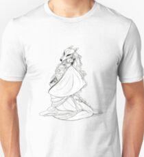 Kitsune woman line art T-Shirt