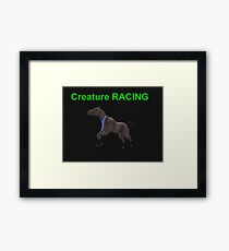 Creature Racing Framed Print