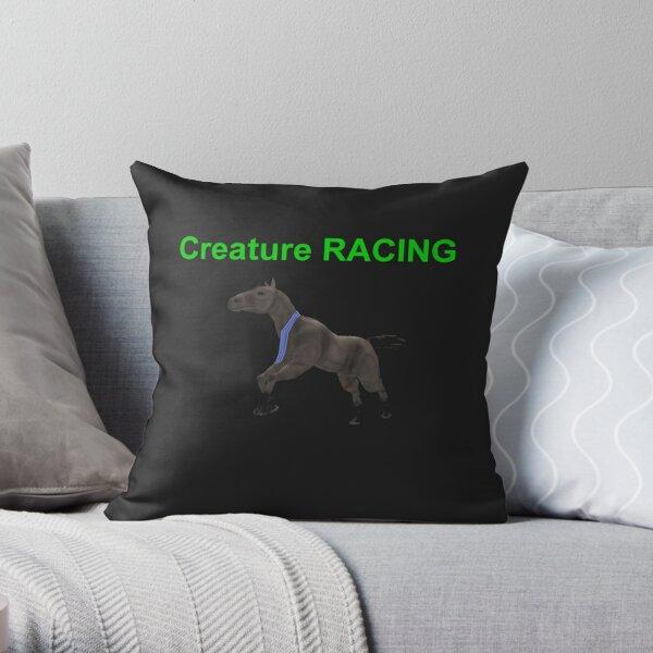 Creature Racing Throw Pillow