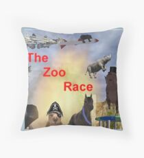 The Zoo Race Rides Throw Pillow