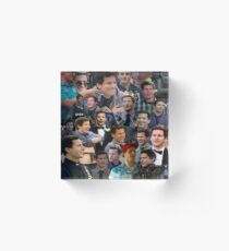 Jake Peralta Collage Acrylic Block