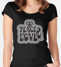 Peace & Love Women's Fitted Scoop T-Shirt