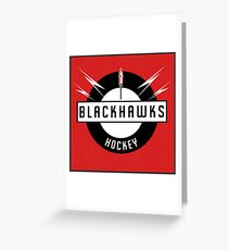Blackhawks Hockey Greeting Card