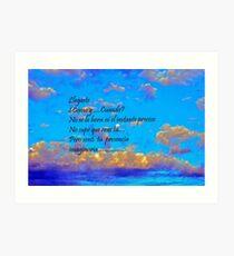 Cielo.Mar Mediterráneo........... Art Print