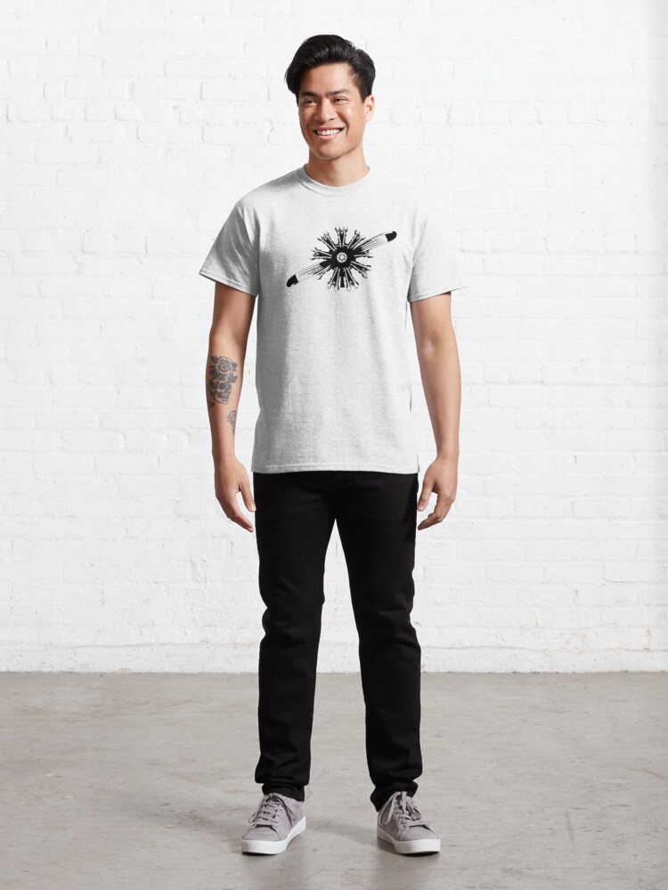 Alternate view of Radial Aircraft Engine Classic T-Shirt