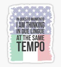Thinking in Due (Yank Version) Sticker
