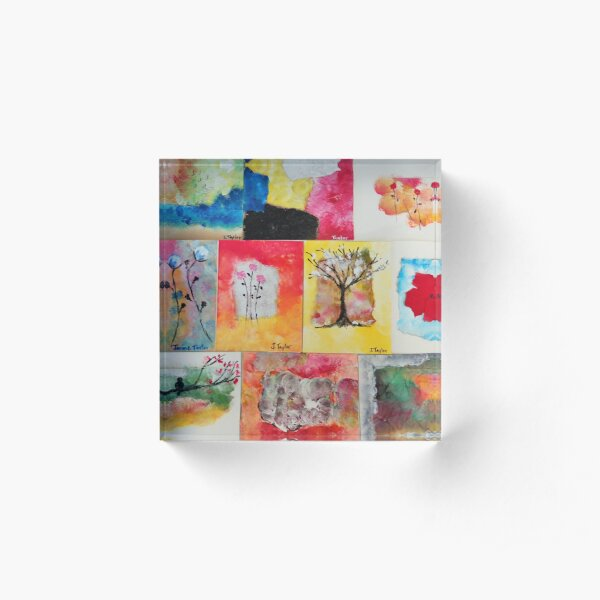 Colorful Images Acrylic Block