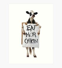 Eat Mor Chikin Art Print