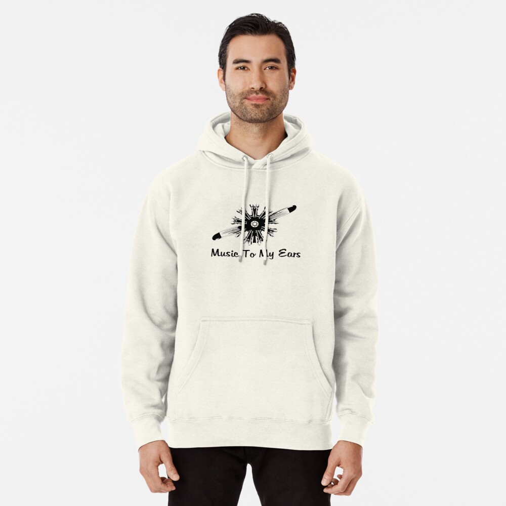 Radial Aircraft Engine Music Pullover Hoodie