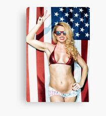 American Blond Beauty 8795 Canvas Print