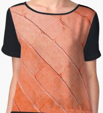 Red background of bricks on a diagonal image with a layer of paint Women's Chiffon Top