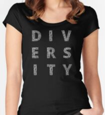 Customisable Unity in Diversity Women's Fitted Scoop T-Shirt