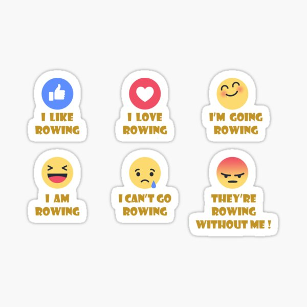 My Rowing Moods Sticker