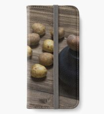 Buttle Tactics On A Rustic Table iPhone Wallet/Case/Skin