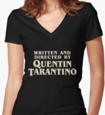 Written and Directed by Quentin Tarantino (original) Women's Fitted V-Neck T-Shirt