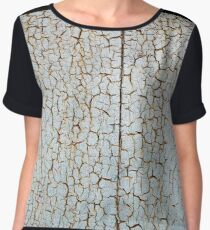 Rusty metal surface is covered with a thick layer of paint Women's Chiffon Top