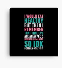 Eating Healthy Canvas Print