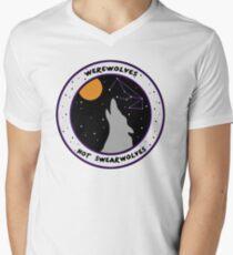 Werewolves Not Swearwolves V-Neck T-Shirt