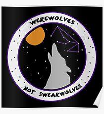Werewolves Not Swearwolves Poster
