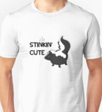 Stinkin' (Stinking) Cute - Adorable Smelly Skunk Stripes Unisex T-Shirt