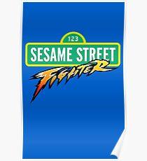 Sesame Street Fighter Poster