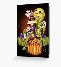 A Ghostly Scene Greeting Card