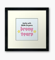 brony tears Framed Print