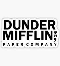 dunder mifflin logo  Sticker