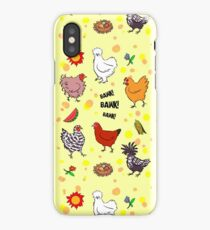 Cute seamless chickens pattern cartoon iPhone Case/Skin