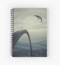 Boy and the flying whale Spiral Notebook