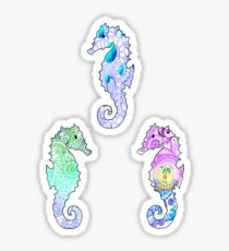 Tie Dye Cute Sea Horse Pack Sticker