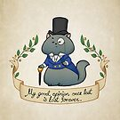 Dapper Regency Cat Prints and Cards by aimeekitty