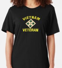 4th Infantry Vietnam Veteran Slim Fit T-Shirt