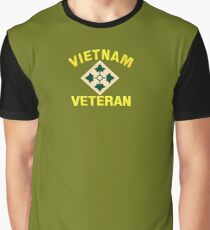 4th Infantry Vietnam Veteran Graphic T-Shirt