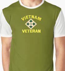 4th Infantry Vietnam Veteran Graphic T-Shirt