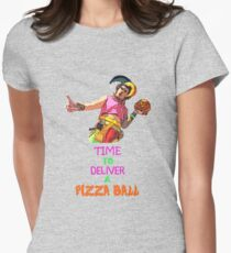Time To Deliver A PIZZA BALL Womens Fitted T-Shirt