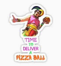 Time To Deliver A PIZZA BALL Sticker
