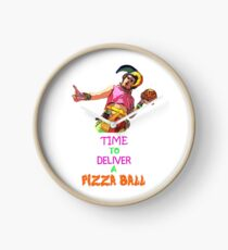 Time To Deliver A PIZZA BALL Clock