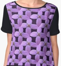 Natural Blooming Flowers - Violet Bornoias Women's Chiffon Top