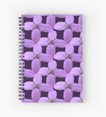 Natural Blooming Flowers - Violet Bornoias Spiral Notebook