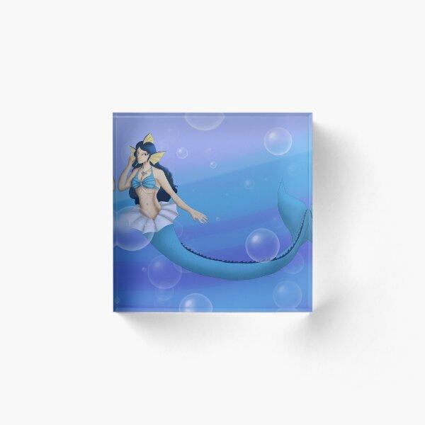 Mermaid Vaporeon Acrylic Block