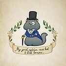 Dapper Regency Cat Pillow, Mug, Bag, Phone case by aimeekitty