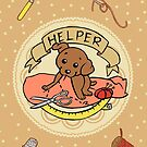 Helper Dog Cards, Prints by aimeekitty