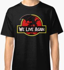 We Live Again - Gargoyles Jurassic Park Classic T-Shirt