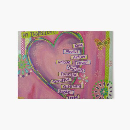 Autism Heart  Art Board Print