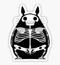 Skeleton Totoro Sticker